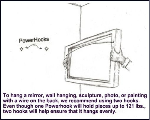 how to hang a heavy mirror up to 120lbs or heavier with. Black Bedroom Furniture Sets. Home Design Ideas