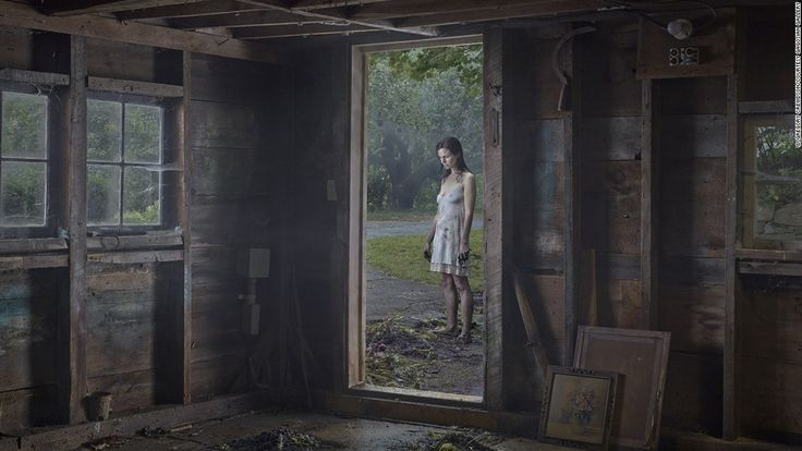 """Gregory Crewdson's latest series, """"Cathedral of the Pines,"""" brings his signature foreboding aesthetic to the rural Berkshires in western Massachusetts."""