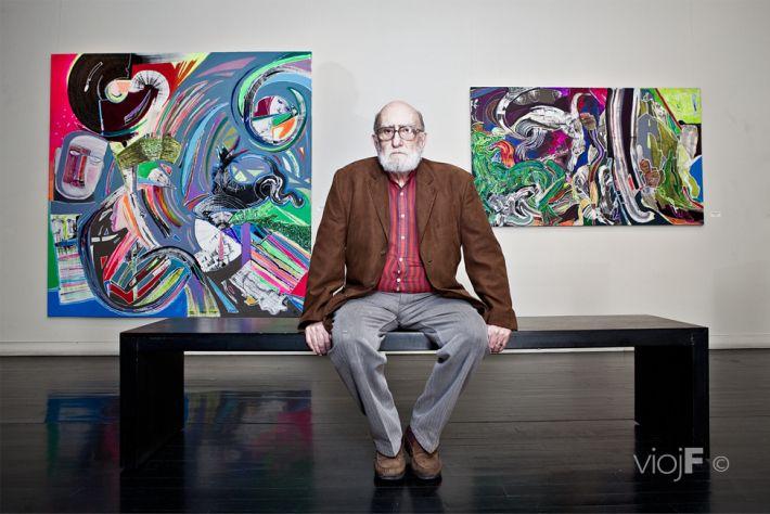 Luis Felipe Noé (Buenos Aires, 1933) Pintor argentino. Inició su carrera artística en el taller de Horacio Butler y, después de realizar varias exposiciones en América y Europa, continuó su obra becado en 1961 por el Gobierno francés.