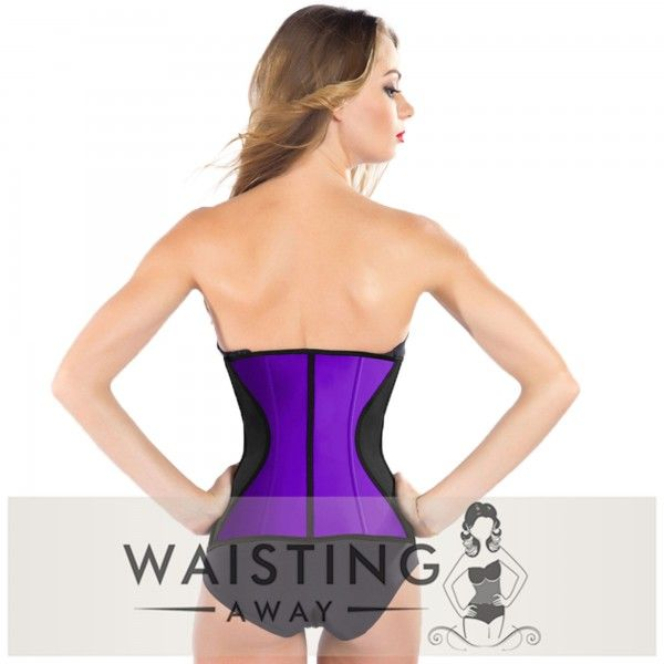 Purple 9 Steel Bone Slim Latex Waist Trainer Corset Corset