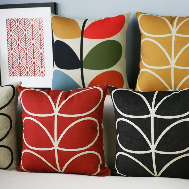 Scandinavian minimalist Ikea small fresh red and yellow petals cotton pillow sofa cushions office nap pillow car