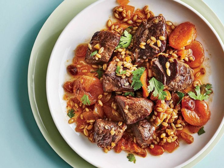 Lamb, Barley, and Apricot Tagine, slow cooker, Cooking Light