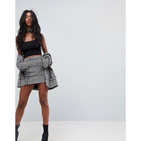 ASOS Tailored Mini In Skirt Prince Of Wales ($40) ❤ liked on Polyvore featuring skirts, mini skirts, multi, short plaid skirt, high waisted skirts, high-waist skirt, tartan mini skirts and plaid mini skirt