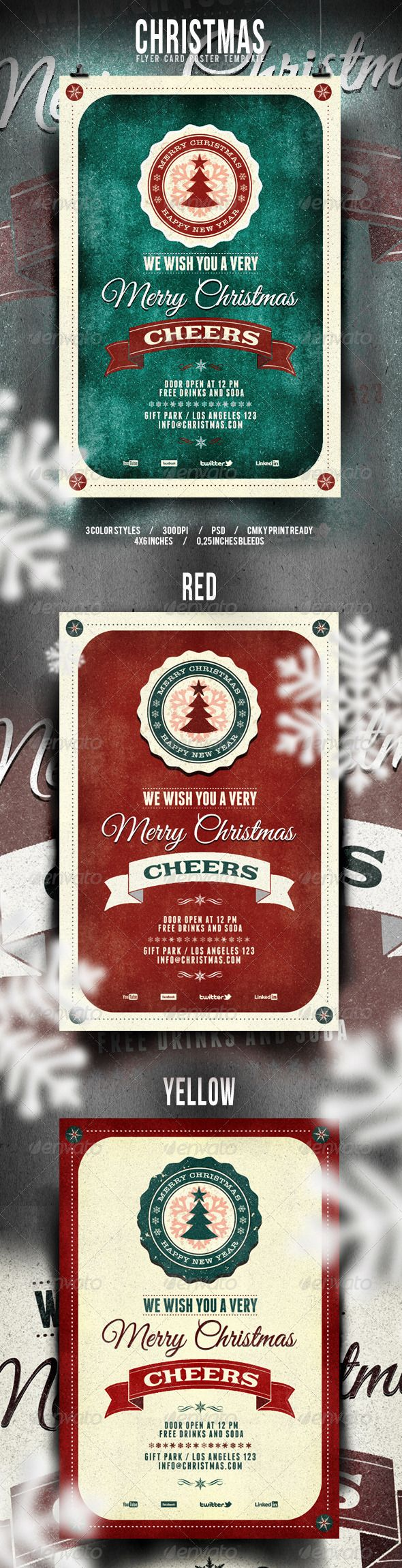 Christmas Flyer/Poster - Retro Vol. 3