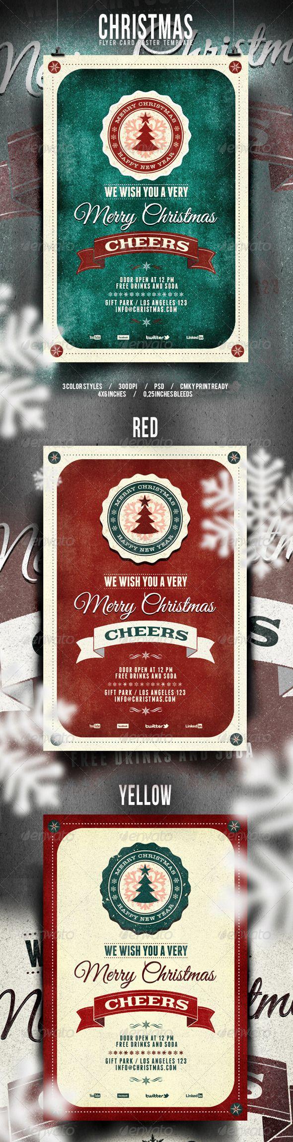 Christmas Flyer/Poster – Retro Vol. 3