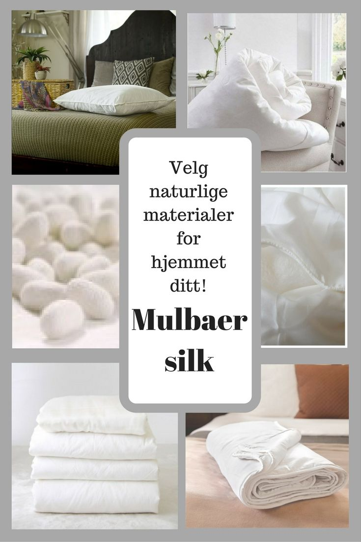 Silke er en spesielt ren og sterk naturlig fiber. Vi har silkedyner, silkeputer og silke overmadrass. www.stylehouse.no