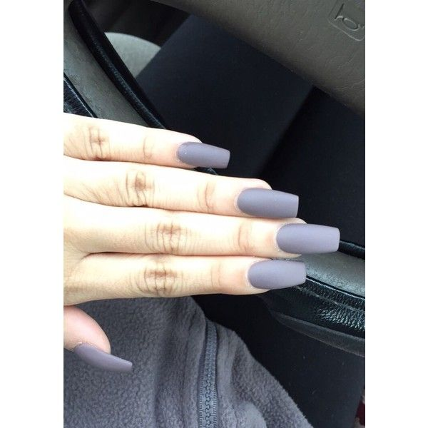 Matte Acrylic Nails ❤ liked on Polyvore
