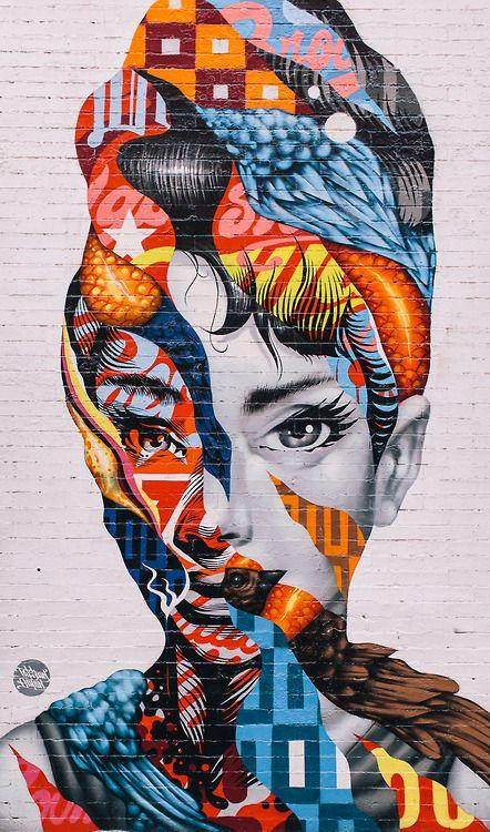 Best Bonom Street Art Images On Pinterest Street Art Artists - Artist paints incredible seaside murals balanced on surfboard