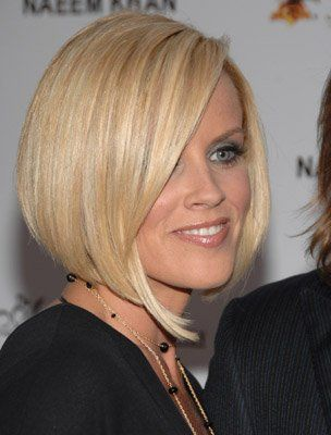 jenny mccarthy.blond bob. shiny healthy thick blond hair.  www.hairrenewalspecialists.com
