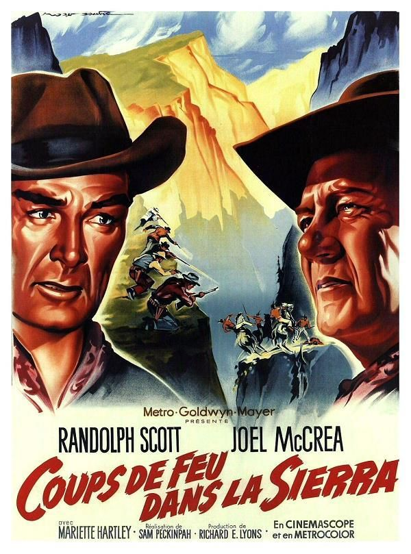 Ride the High Country    Coups de feu dans la Sierra     Support: BluRay 1080    Directeurs: Sam Peckinpah    Année: 1962 - Genre: Action / Western - Durée: 93 m.    Pays: United States of America - Langues: Français, Anglais    Acteurs: Randolph Scott, Joel McCrea, Mariette Hartley, Ron Starr, Edgar Buchanan, R. G. Armstrong, Jenie Jackson, James Drury, L.Q. Jones, John Anderson, John Davis Chandler, Warren Oates