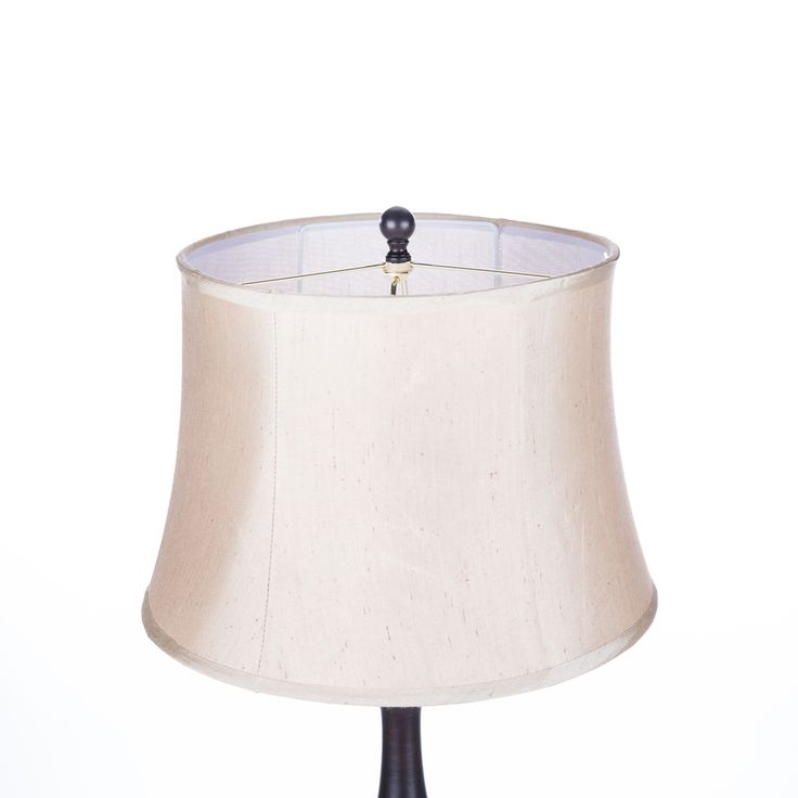 Hampton Bay Rhodes 58 50 In Bronze Floor Lamp With Natural Linen Shade Hd09999frbrzc The Home Depot Bronze Floor Lamp Floor Lamp Decorative Floor Lamps