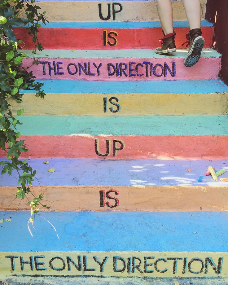 Up is the only direction. The only direction is up. #Motivation #Inspiration             Clinique #StartBetter Manifesto as interpreted by artist Sarah Palmer.