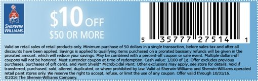 Special Offers Coupon - Sherwin-Williams