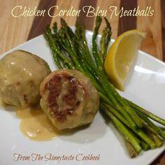 Chicken Cordon Bleu Meatballs from the Skinnytaste Cookbook | The Good Hearted Woman
