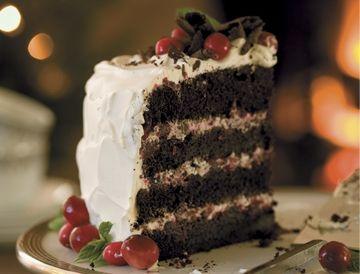 Gâteau Forêt-Noire aux canneberges