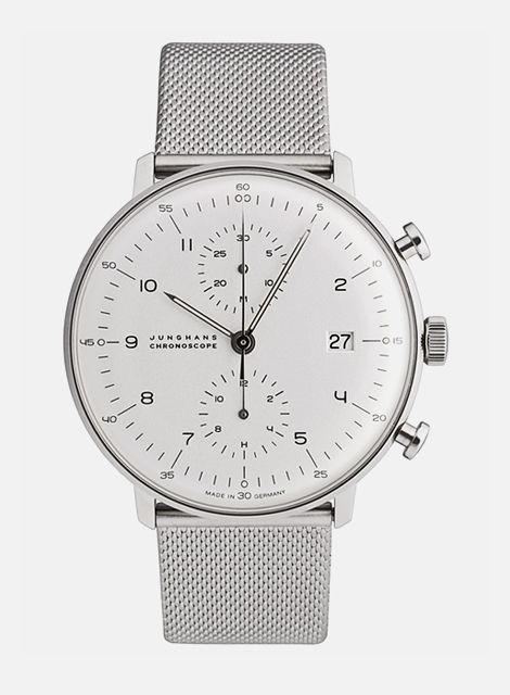 Junghans Chronoscope by Max Bill style menswear fashion