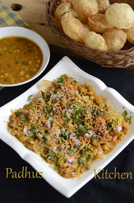 A very popular street food/Chaat -Masala Puri
