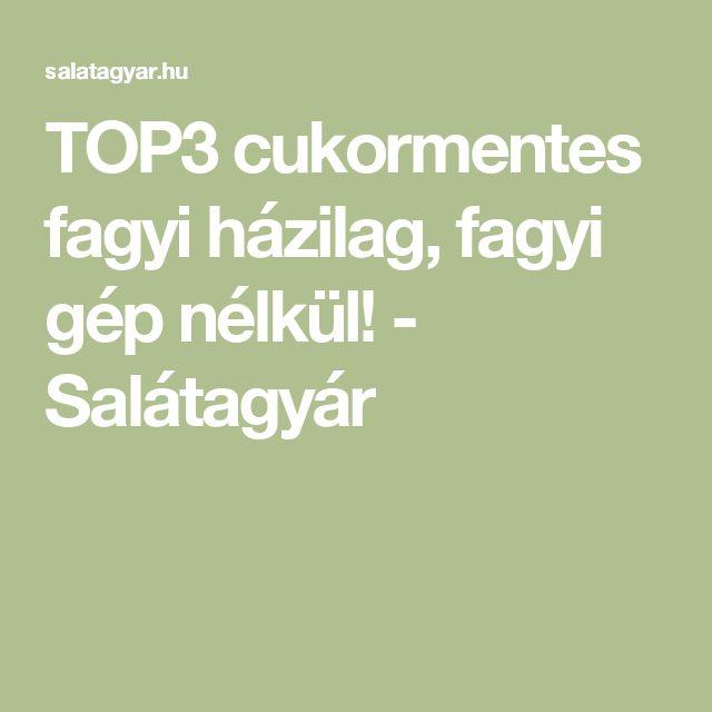 TOP3 cukormentes fagyi házilag, fagyi gép nélkül! - Salátagyár