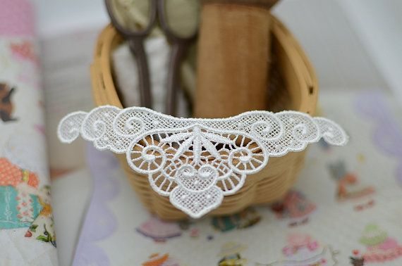 Sewing Altered Couture Art Lace Necklace by LaceDecoration on Etsy