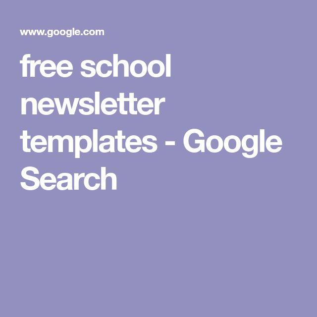 free school newsletter templates - Google Search