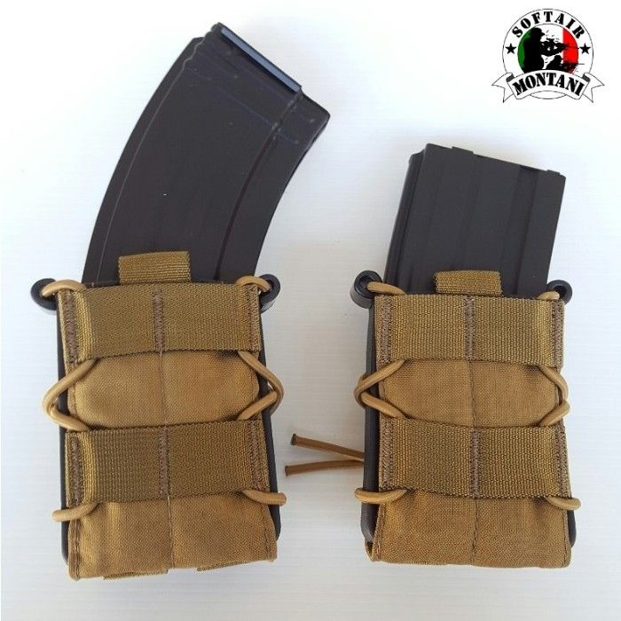 """TACO"" STYLE M4/AK MAG POUCH COYOTE"