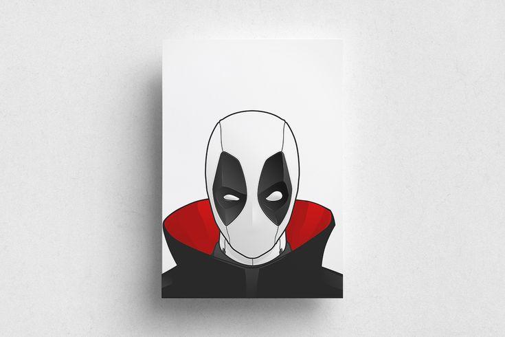 #Deadpool #Marvel #Red #White #Poster #Print #Minimalism #Minimalist #Design #Graphic Design #Adrian #Iorga #Art #Wallart #Decoration #Fashion