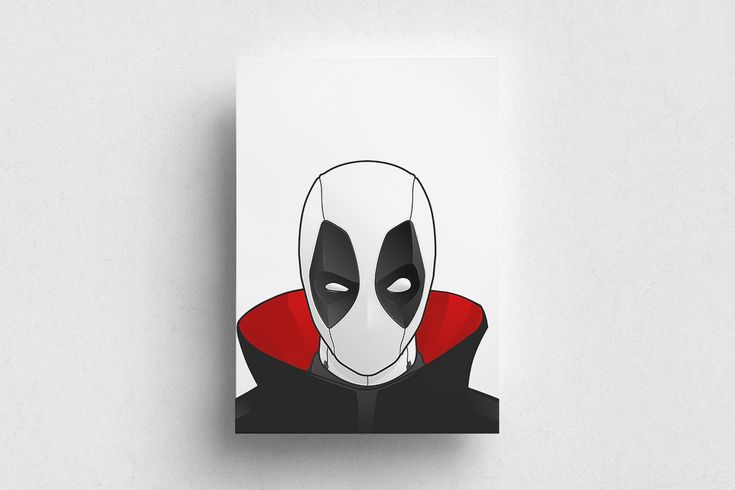 #Deadpool #Marvel #Red #White #Poster #Print #Minimalism #Minimalist #Design #Graphic Design #Adrian #Iorga #Art #Wallart #Decoration #Fashion