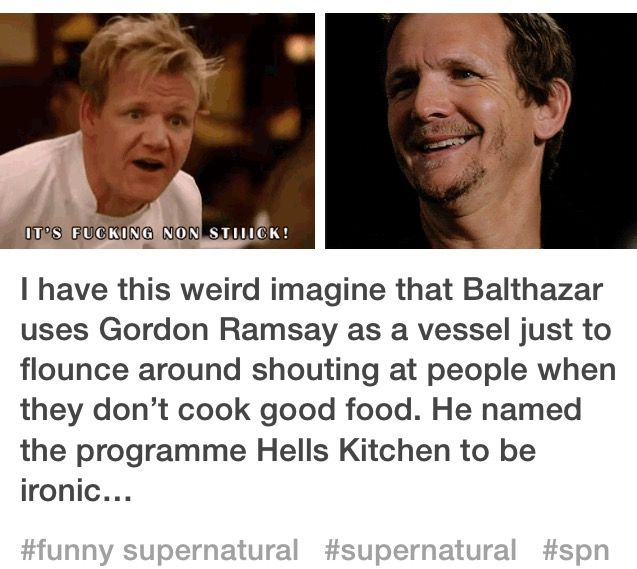 Supernatural Imagines #Balthazar #Supernatural #Imagines
