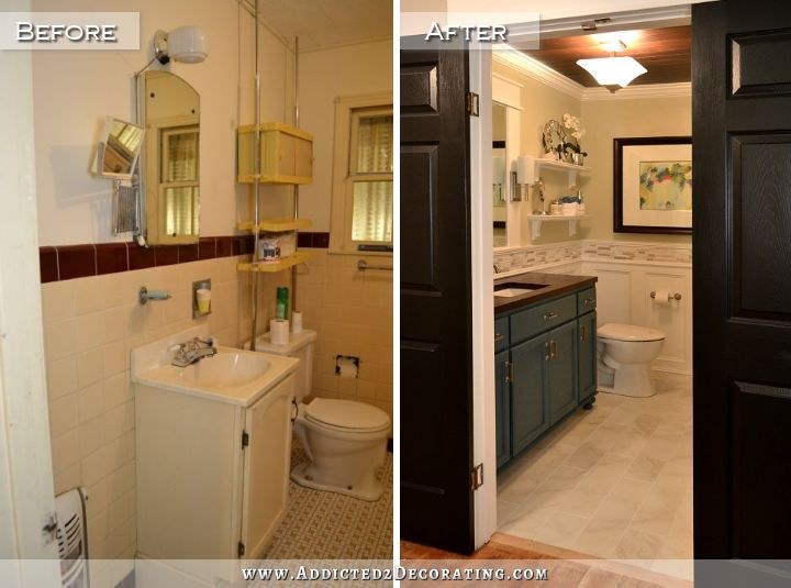 10 best wood doors with white trim images on pinterest for Small hall bathroom remodel ideas
