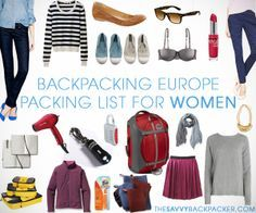 For Europe this summer! - This guide will show you all the best gear and attire that any woman would want for a great backpack trip across Europe. There are great tips provided for all. (https://www.facebook.com/TravelingWarrior) #backpack #Europe