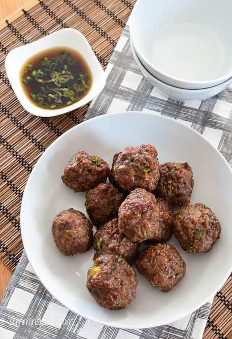 Slimming Eats - Asian Chicken Meatballs - gluten free, dairy free, paleo, whole30, Slimming World and Weight Watchers friendly