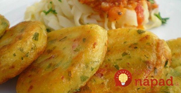 Fantastické zemiakové fašírky so slaninkou a cibuľou