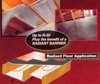 Low-E Foil Poly Foam Foil Insulation, 1/4 thick X 125 feet long X 4 feet wide - 4LFLS/L400S