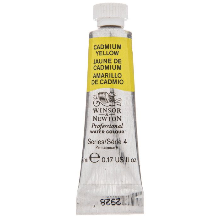 Cadmium Yellow Winsor Newton Artists Watercolor Paint Hobby