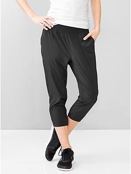 work pants: GapFit Studio cropped joggers ($50 full price)