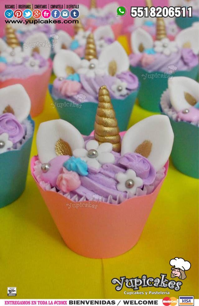 ✨ Tus fiestas no serán las mismas cuando estos Cupcakes de Unicornio estén en ella! ✨ ¿Con quien te gustaría compartirlos?  ¡Haz tus pedidos HOY!  #Yupicakes #CDMX #Cupcakes #Unicornio