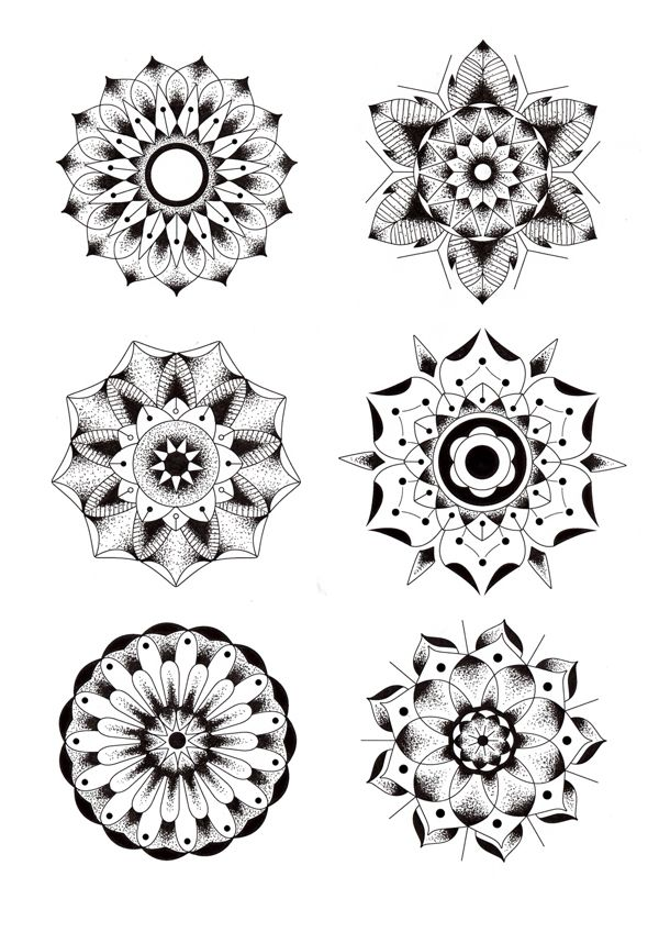 Geometric Flowers by Blake Gordon, via Behance