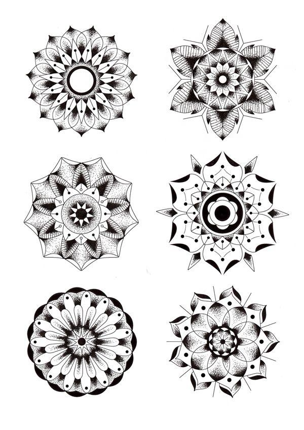 Geometric Flowers by Blake Gordon, via Behance ☼ ☾ Follow me on instagram: 2turnttori