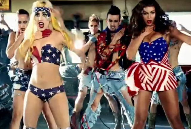 Lady Gaga and Beyonce show off their patriotism.
