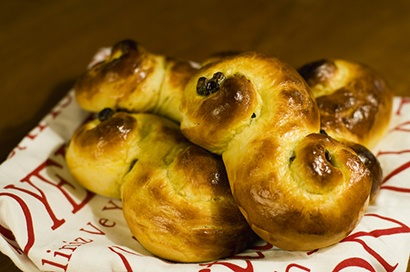 Saffron buns are consumed by the dozen on Lucia Day.