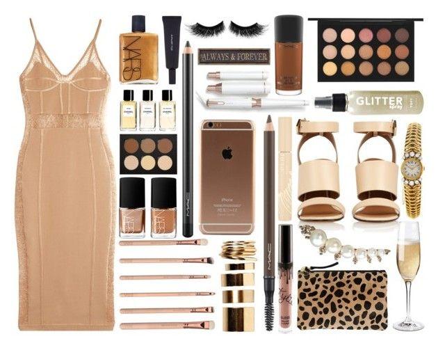 """Fall Wedding"" by miica-olavarria ❤ liked on Polyvore featuring Balmain, NARS Cosmetics, MAC Cosmetics, shu uemura, Chanel, T3, eylure, Anastasia Beverly Hills, Stila and Boohoo"