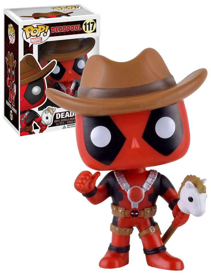 Funko POP! Marvel Deadpool #117 Deadpool (Cowboy) - 2016 San Diego Comic Con (SDCC) Limited Edition - New, Mint Condition.  #Funko #FunkoPop #Marvel #Deadpool #SDCC #ComicCon #Collectibles