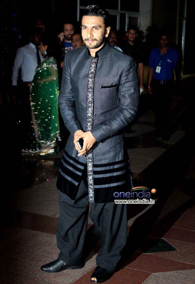 Actor Ranveer Singh at Esha Deol & Bharat Takhtani Sangeet Ceremony