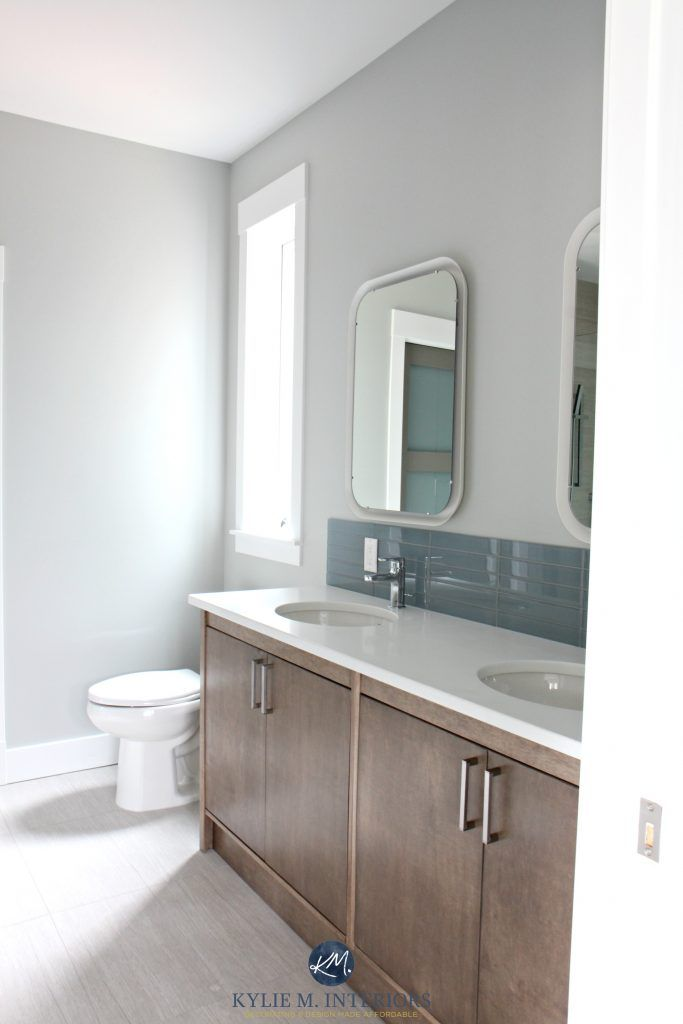 17 best ideas about gray bathroom walls on pinterest Benjamin moore ceiling paint for bathrooms