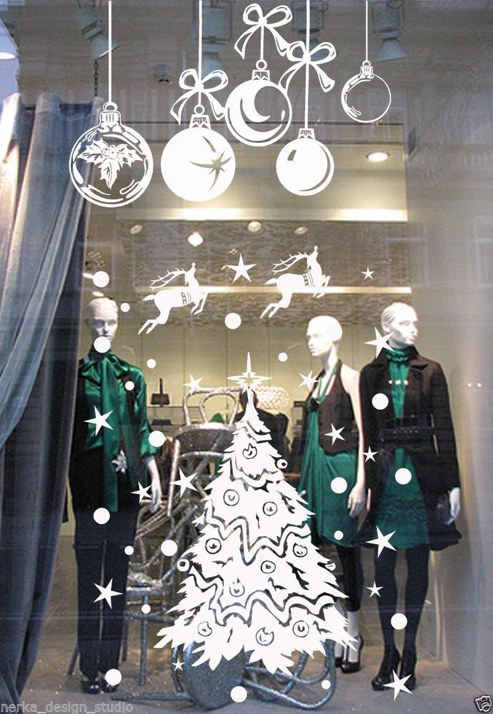 Best 25+ Christmas window stickers ideas on Pinterest ...