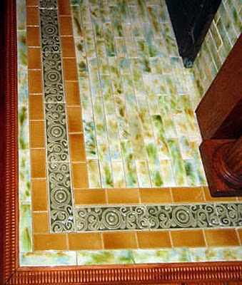 Victorian fireplace hearth tiles