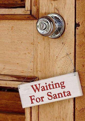 Waiting for Santa Door Sign.