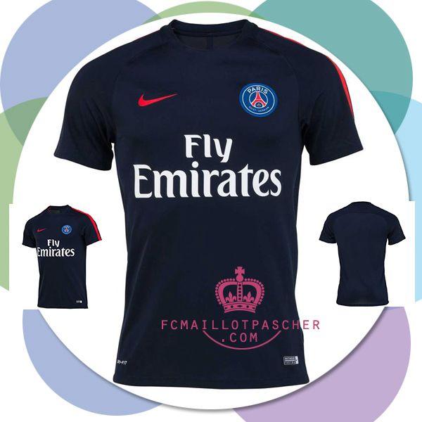 site PSG maillot Bleu 2017 Training pas chers
