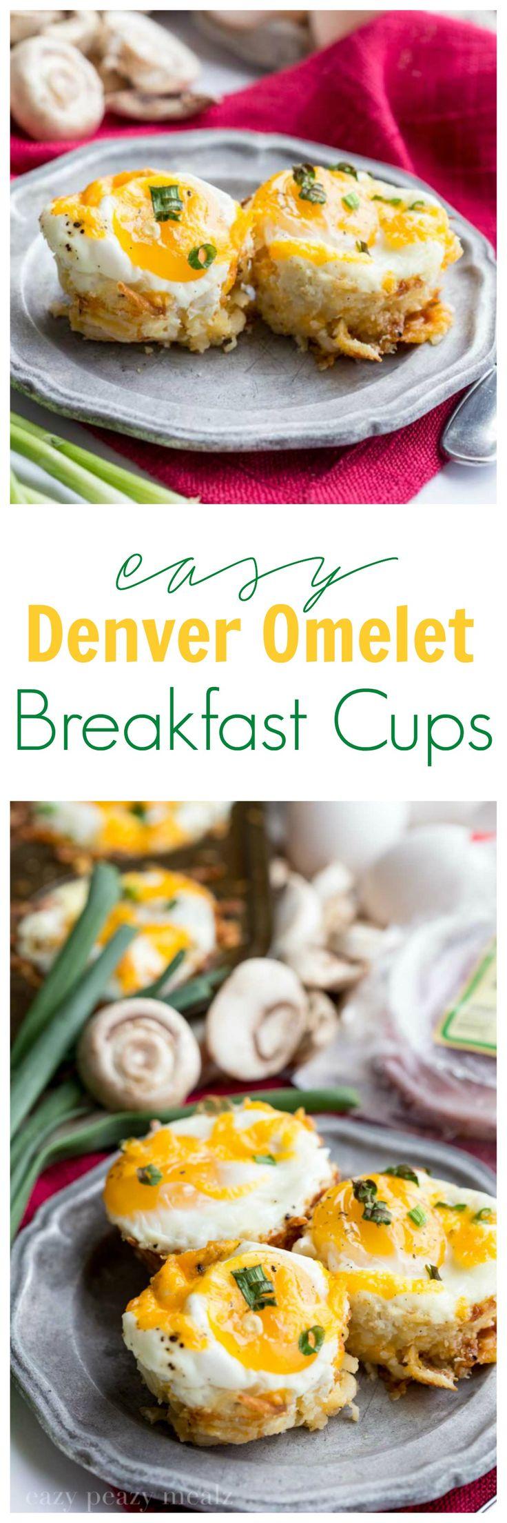 Easy Denver Omelet Breakfast Cups are your breakfast solution. #ad #JonesBrinner - Eazy Peazy Mealz: