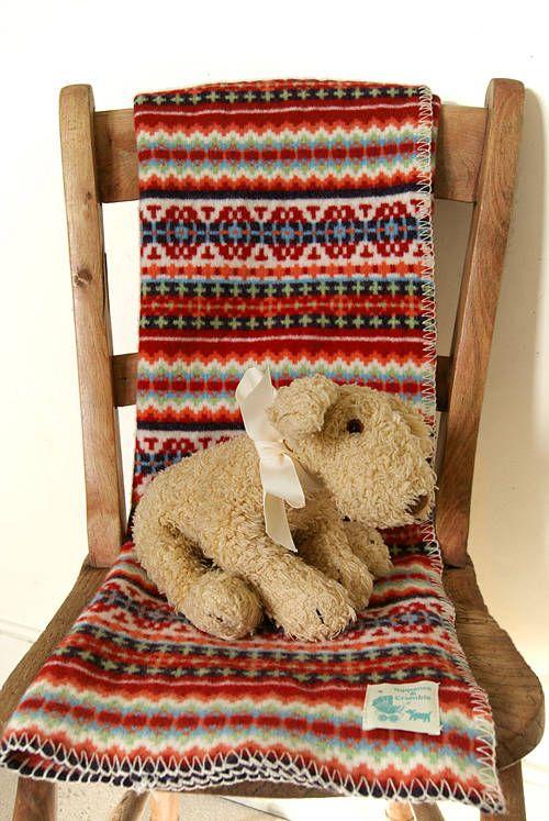 Fairisle Lambswool Baby Blanket